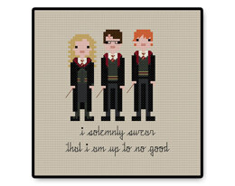 Harry, Ron, and Hermione - PDF Cross Stitch Pattern
