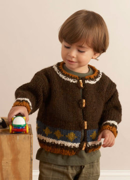 Cozy Cardigan in Lion Brand Wool-Ease Chunky - 70457AD