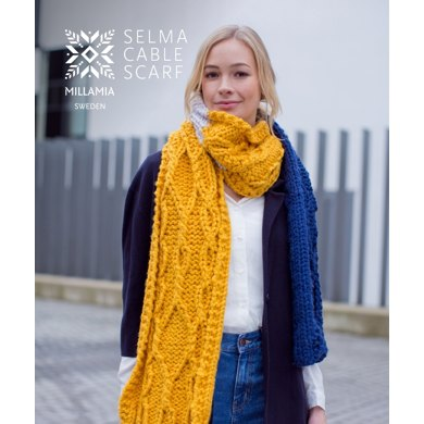 Selma Cable Scarf in MillaMia Naturally Soft Super Chunky - Downloadable PDF