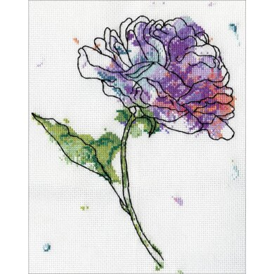 Design WorksLilac Floral Counted Cross StitchKit - 5in x 7in