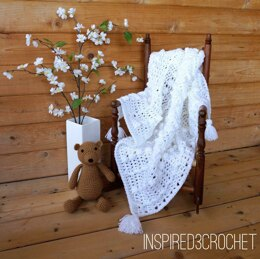 White Bubbles & Swizzles Baby Receiving Blanket