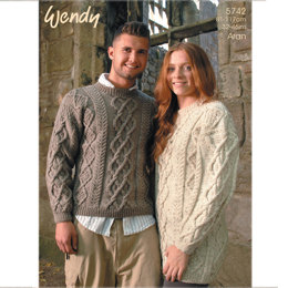 His and Hers Sweater and Tunic in Wendy Aran with Wool - 5742