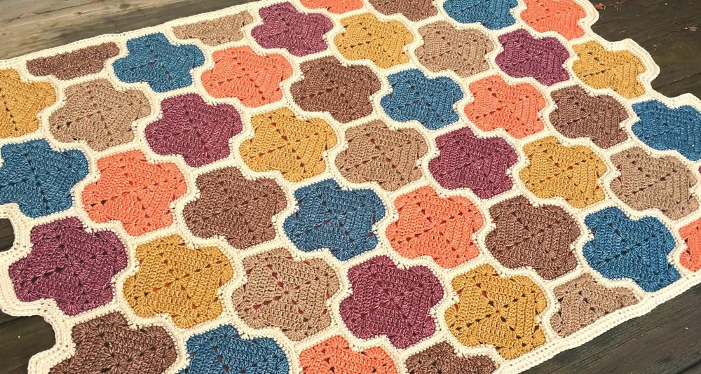 Moroccan Lattice Afghan Crochet Pattern By Julie Yeager