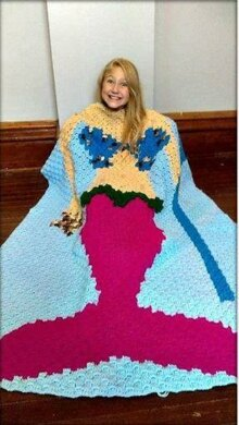 Mermaid Tail with Trident Blanket