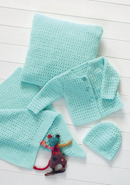 Crochet Cardigan, Hat, Blanket & Cushion in Stylecraft Wondersoft DK - 8570