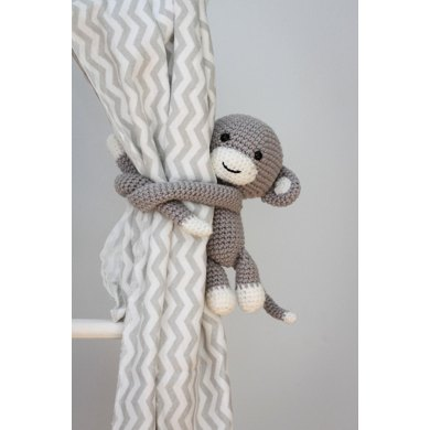 Monkey Curtain Tie Back Crochet Pattern By Thoresby Cottage