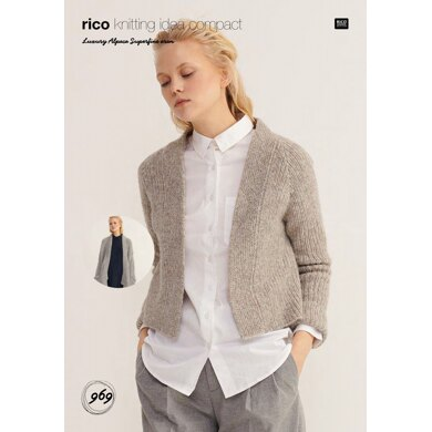Cardigans in Rico Luxury Alpaca Superfine Aran - 969 - Downloadable PDF