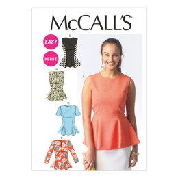 McCall's Misses'/Miss Petite Tops M6896 - Sewing Pattern