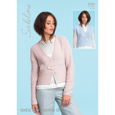 Waistcoat and Jacket in Sublime Extra Fine Merino Dk - 6093 - Downloadable PDF