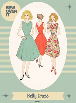 Sew Over It Betty Dress - Downloadable PDF, Size UK 8-20