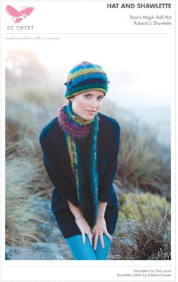Hat and Shawlette in Be Sweet Specialty Mohair Magic Ball