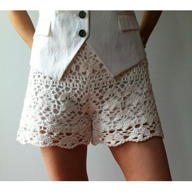 Cynthia Floral Lace Shorts Crochet Pattern By Vicky Chan Designs