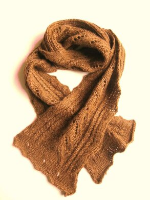 Lace, Cable, Scarf and Cowl all in one