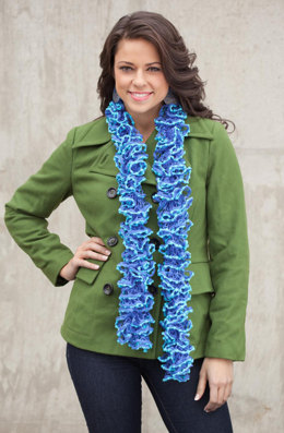 One Ball Scarf in Rozetti Spectra Duet