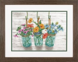 Dimensions Flowering Jars Cross Stitch Kit - 22.86cm x 30.48cm