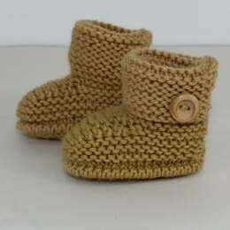 Baby Simple Cuff Booties