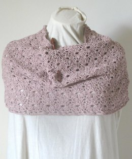 Crochet Flower Lace Cowl