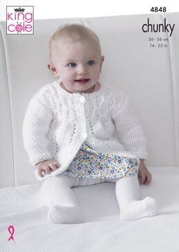 Matinee Coat, Angel Top, Cardigan and Blanket in King Cole Chunky - 4848 - Downloadable PDF