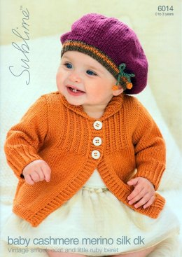 Vintage Smock Coat & Little Ruby Beret in Sublime Baby Cashmere Merino Silk DK - 6014