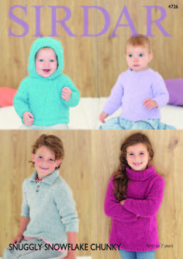 Sweaters in Sirdar Snuggly Snowflake Chunky - 4726 - Downloadable PDF