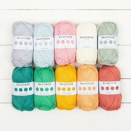 Paintbox Yarns Cotton Aran 10 Ball Colour Packs