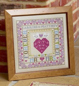 Historical Sampler Company Bird & Heart Wedding Sampler Cross Stitch Kit