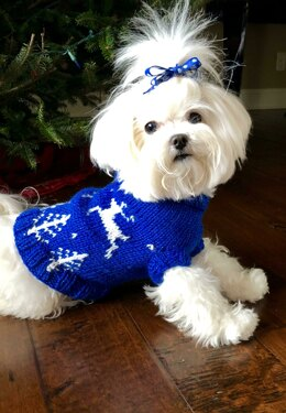 Winter Wonderland dog sweater