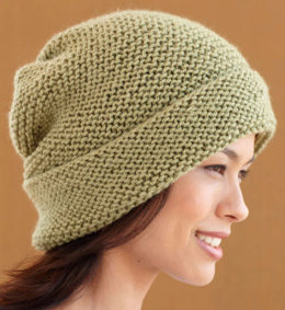 Fern Green Hat in Lion Brand Vanna's Choice - L0457