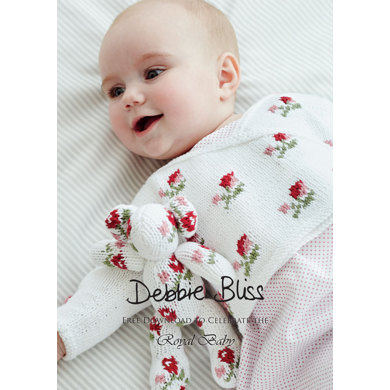 """Rosebud Crossover"" : Knitting Pattern for Babies in Debbie Bliss Sport Yarn"