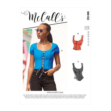 McCall's Misses' Tops M8182 - Sewing Pattern