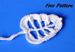 White Irish Crochet Leaf Pattern