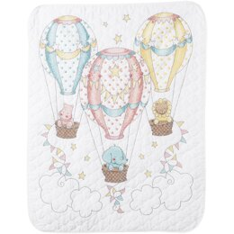 Bucilla Stamped Crib Cover Cross Stitch Kit - Up, Up & Away