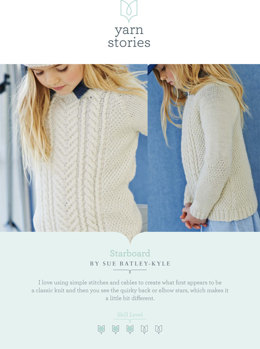 Starboard Sweater in Yarn Stories Fine Merino DK - Downloadable PDF