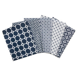 Craft Cotton Company Blue and White Fat Quarter Bundle