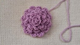Large Dahlia Crocheted Flower