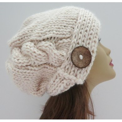 The Jenna Slouch Hat with Single Cable
