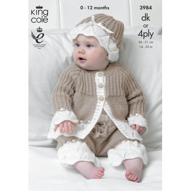 Jacket, Pants and Hat in King Cole Comfort DK- 3984