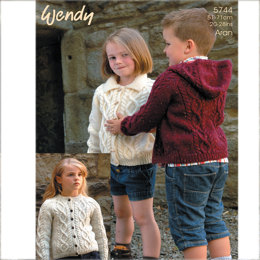 4c6ba8409c0490 Unisex Kids Jacket in Wendy Aran with Wool - 5744