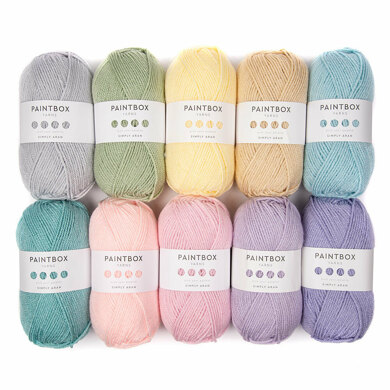 Bella Coco Spring Abstract Blanket - Paintbox Yarns Simply Aran 10 Ball Color Pack