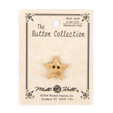 Mill Hill Button 86241 - Very Small Star - Gold