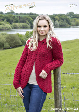 Cabled Jacket in Twilleys Freedom Alfresco Aran - 9206