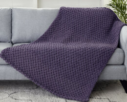 Criss Cross Afghan in Bernat Alize Blanket-EZ - Downloadable PDF