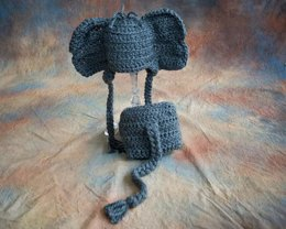 Elephant Baby Hat & Diaper Cover