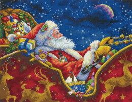 Dimensions Santa's Midnight Ride Cross Stitch Kit - 35.5cm x 28cm