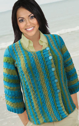 Fish Scales Sweater in Knit One Crochet Too Ty-Dy Wool - 1708 - Downloadable PDF