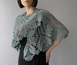 Monica - floral lace shawl