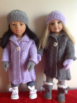 "Cable Coat for 18"" Dolls"