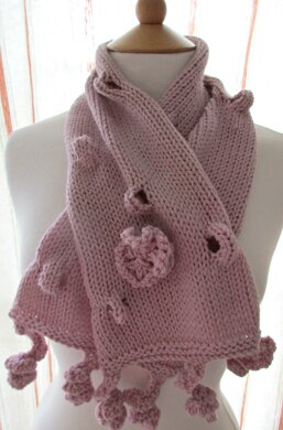 Bumps And Twirls Scarf Knitting Pattern By Sian Brown