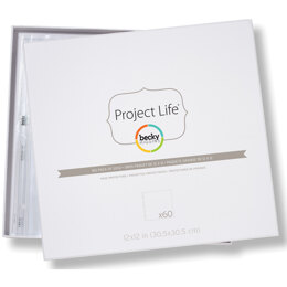 "American Crafts Project Life Page Protectors 12""X12"" 60/Pkg - 040146"