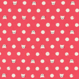Cotton & Steel Cat Lady - Friskers Coral